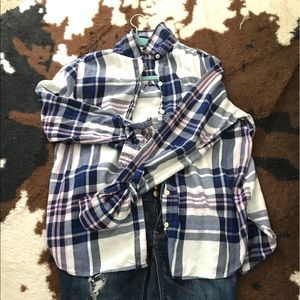 Flannel Cotton old Navy Button Up Shirt